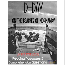 Load image into Gallery viewer, D Day Differentiated Reading Passages