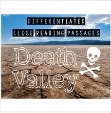 Load image into Gallery viewer, Death Valley {Differentiated Close Reading Passages & Questions}