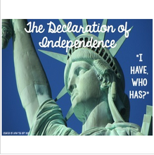 "Load image into Gallery viewer, Declaration of Independence ""I Have, Who Has?"" Whole Group Vocabulary Review"