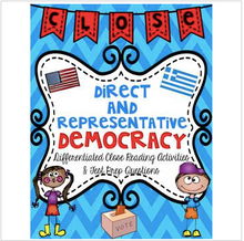 Load image into Gallery viewer, Democracy Close Reading Passages & Test Prep Questions Mini Unit