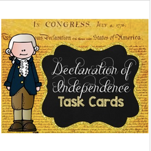 Load image into Gallery viewer, Declaration of Independence Task Cards {Scoot}