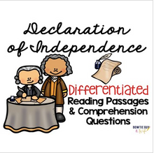 Load image into Gallery viewer, Declaration of Independence {Differentiated Reading Passages & Questions}