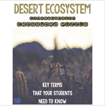 Desert Ecosystem Crossword