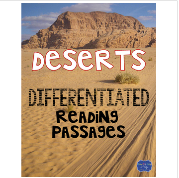 Deserts Differentiated Activities