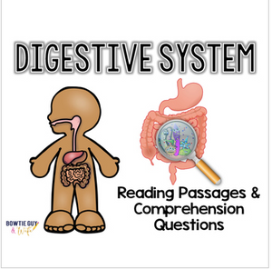 Digestive System Differentiated Nonfiction Reading Passages