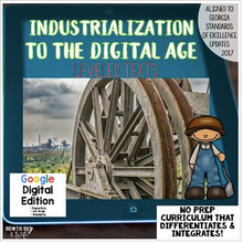 Load image into Gallery viewer, Digital Social Studies Texts Industrialization to Digital Age for Google Drive