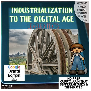 Digital Social Studies Texts Industrialization to Digital Age for Google Drive