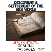 Load image into Gallery viewer, Discovery and Settlement of the New World Differentiated Reading Passages