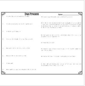 Due Process Differentiated Leveled Text Reading Passages