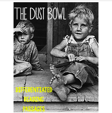 Dust Bowl and the Great Depression Differentiated Reading Passages
