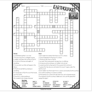 Earthquakes Crossword