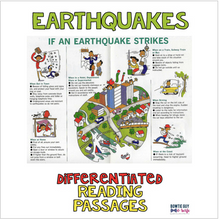 Load image into Gallery viewer, Earthquakes Differentiated Nonfiction Reading Passages