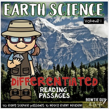 Load image into Gallery viewer, Earth Science Passages 40 leveled nonfiction texts with comprehension activities