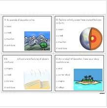 Load image into Gallery viewer, Earth's Changing Surface Task Cards (Constructive and Destructive Forces)
