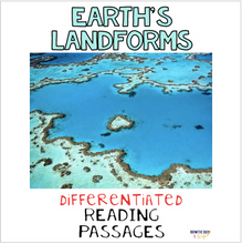 Load image into Gallery viewer, Earth's Landforms Differentiated Nonfiction Reading Passages