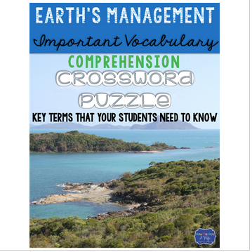 Earth's Management of Soil: Erosion & Runoff Crossword