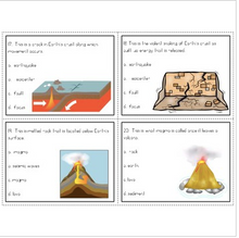 Load image into Gallery viewer, Earth's Structure Task Cards (Earthquakes, Tectonic Plates, Volcanoes & More)