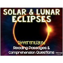 Load image into Gallery viewer, Eclipses Leveled Texts {Differentiated Reading Passages & Questions}