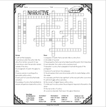 Load image into Gallery viewer, Elements of Narrative Writing Crossword