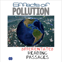 Load image into Gallery viewer, Effects of Pollution Differentiated Reading Passages & Questions