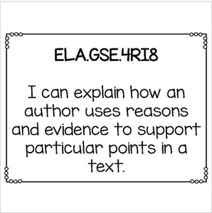 ELA I Can Statements for Fourth Grade Georgia Standards of Excellence