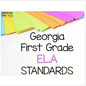 ELA Standards for First Grade Georgia Standards of Excellence