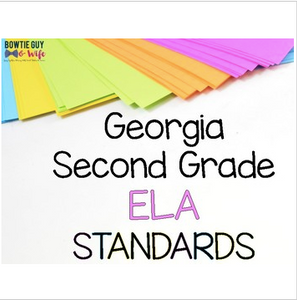 ELA Standards for Second Grade Georgia Standards of Excellence