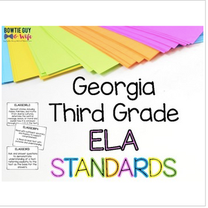 ELA Standards for Third Grade Georgia Standards of Excellence