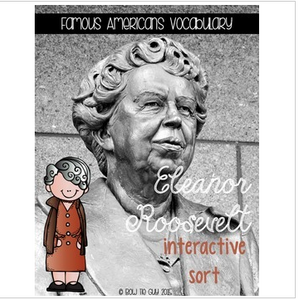 Eleanor Roosevelt Interactive Vocabulary Sort