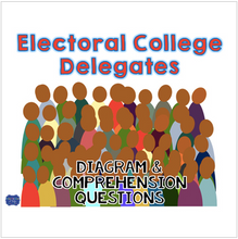 Load image into Gallery viewer, Electoral College Delegates Diagram & Comprehension Questions