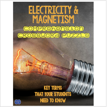 Load image into Gallery viewer, Electricity & Magnetism Comprehension Crossword
