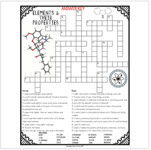 Elements and their properties Crossword