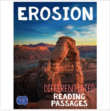 Erosion Differentiated Reading Passages & Question