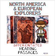 Load image into Gallery viewer, European Explorers & North America Nonfiction Differentiated Reading Passages