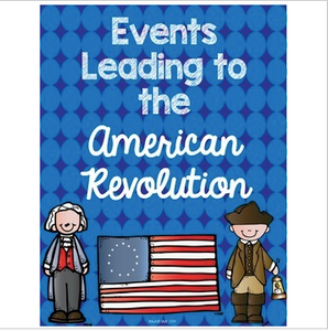 Events Leading Up to the American Revolution Interactive Notebook Sort
