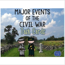 Load image into Gallery viewer, Events of the Civil War Task Cards