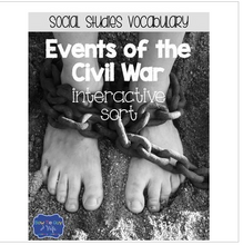 Load image into Gallery viewer, Events of the Civil War {Interactive Vocabulary Sort}