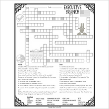Load image into Gallery viewer, Executive Branch Crossword
