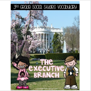 Executive Branch of Government Vocabulary Sort