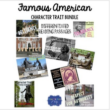 Load image into Gallery viewer, Famous American Character Trait Spotlight BUNDLE