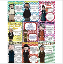 Load image into Gallery viewer, Famous Americans Common Core Language Arts Review {BUNDLE!}