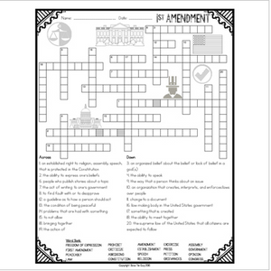First Amendment Crossword