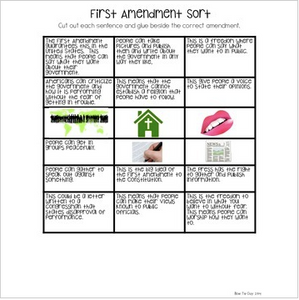 First Amendment Sort {Social Studies Interactive Notebook}