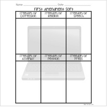 Load image into Gallery viewer, First Amendment Sort {Social Studies Interactive Notebook}