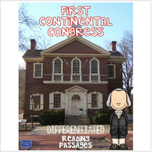 Load image into Gallery viewer, First Continental Congress Differentiated Reading Passages & Questions