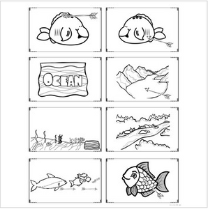 Fish Mini Unit with Vocabulary and Word Work