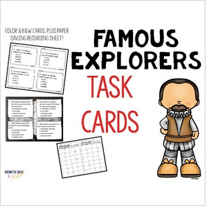 Famous Explorers Task Cards Review of Age of Exploration