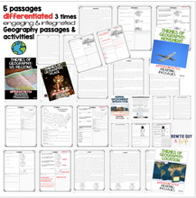 Load image into Gallery viewer, Five Themes of Geography Nonfiction Reading Texts BUNDLE - SOCIAL STUDIES