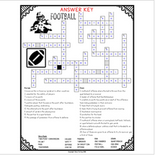 Load image into Gallery viewer, Football Comprehension Crossword