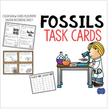 Load image into Gallery viewer, Fossils Task Cards